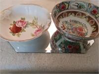 2 Decorative Serving Bowls