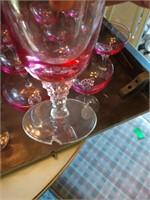 Pink Tinted Formal Glassware