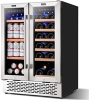 24'' Beverage and Wine Cooler Dual Zone