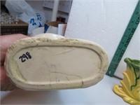 "2 Vintage Cornucopia Vases 10&3/4"" and 5"""
