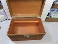 """Vintage Tweed Makeup Case (missing tray) 11&1/2"""" x"""