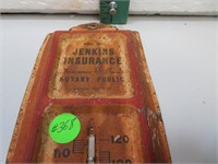 Vintage Jenkins Insurance Thermometer Phone