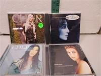 6 CD's (3 Cher & 3 Celine Dion)