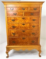 Maple High Chest in Frame