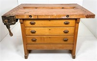 Maple work bench, drawers in both sides,