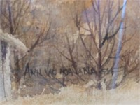 Ann Kavanagh Autumn Barn Scene Print