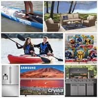 Patio Sets, Lighting, TVs, Toys & Sporting Goods Auction!