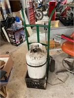 Propane Tank and Hand Cart