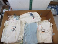 Large Lot of Fancy Work, Baby Clothes Very Nice