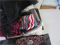 Flat of Scarves, Hand Bag and more