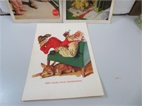 3 (1950's & 60's) CocaCola Santa Clause Magazine