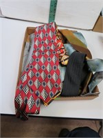 Flat of Vintage Neck Ties