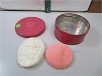 Vintage Air-Float Boudoir Powder Tin with 2 Puffs