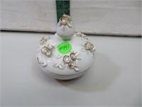 "Vintage Lefton Japan Trinket Jar 4"" x 3&5/8"""
