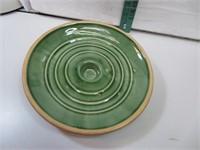 """Antique Stoneware Lid 8&5/8"""""""