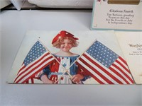 3 Antique Post Cards (1=1913 Fourth of July)