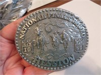 1989Adult Hesston National Finals Rodeo BeltBuckle