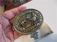 1980Adult Hesston National Finals Rodeo BeltBuckle