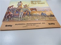 1984 Burwell Calendar with C.W. Russell Scenes of