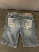 (2) Ladies Fashion Denim Bermuda Shorts, Size 5