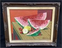 Framed Watermelon Wall Decor