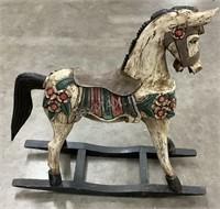 Decorative Wood Rocking Horse