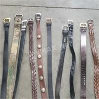 (10) Assorted Men's Belts