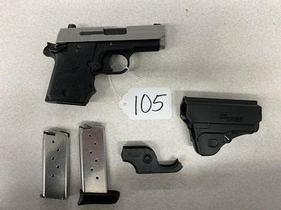 Sig Sauer P938 9mm PARA Pistol W/ Holster, 2 Clips