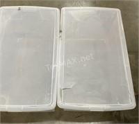 (3) Plastic Container