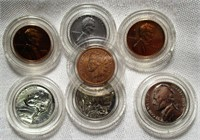 Lot of 7 Collectible US Coins