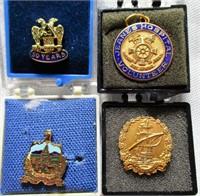 Lot of 4 Vintage Lapel Pins