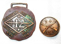 WWI Military Meet Medal & Infantry Pin
