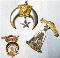 Lot of 3 Pittsburg Masonic/Shriner Pins
