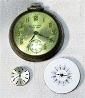Ingraham Biltmore Pocket Watch and 2 Movements