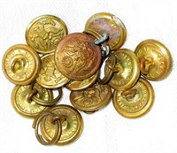 12 Evans/Superior & Waterbury Military Buttons