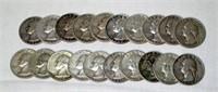 Lot of 20 Washington Silver Quarters