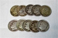 Lot of 10 Roosevelt Silver Dimes
