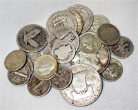 25 Piece $4.15 Face Value US Silver Coin Lot