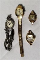 Lot of 4 Vintage Women's Watches