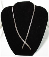 .925 Sterling Crossed Ends Necklace