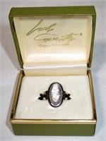 Sterling Sarah Coventry Cameo Ring in Original Box