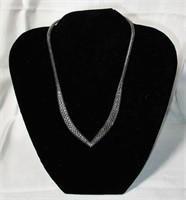 .925 Sterling V-Shaped Designer Necklace