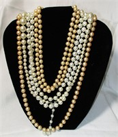 Lot of 4 Vintage Imitation Pearl Necklaces
