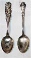 Lot of 2 Sterling Souvenir Spoons