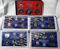 Lot of 3 Proof US Mint Sets 1976, 2000, and 2002
