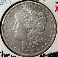 1880-S Morgan Silver Dollar in VG+ Condition