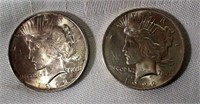 Lot of 2 1922 Peace Silver Dollars #1