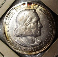 1893 Columbian Expo Silver Half Dollar with Toning