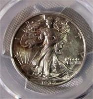 1939 Walking Liberty Half Dollar PCGS Graded