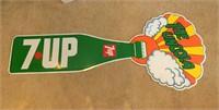 Metal 7-up Sign